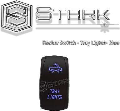Dual LED Backlit Laser Etched TRAY LIGHTS Rocker Switch