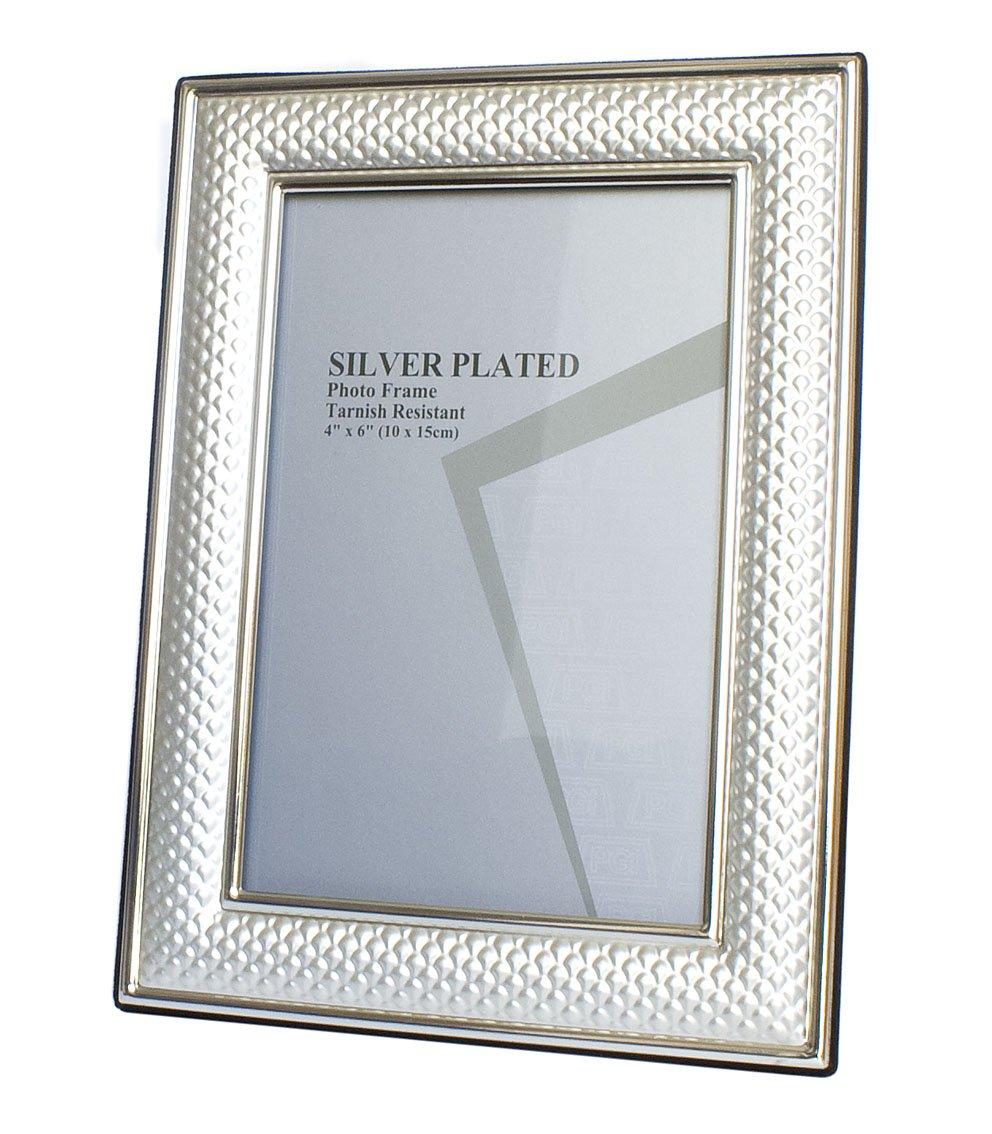 Fotorahmen Bilderrahmen Silber edel und schick für Bildgröße 10 x 18 ...
