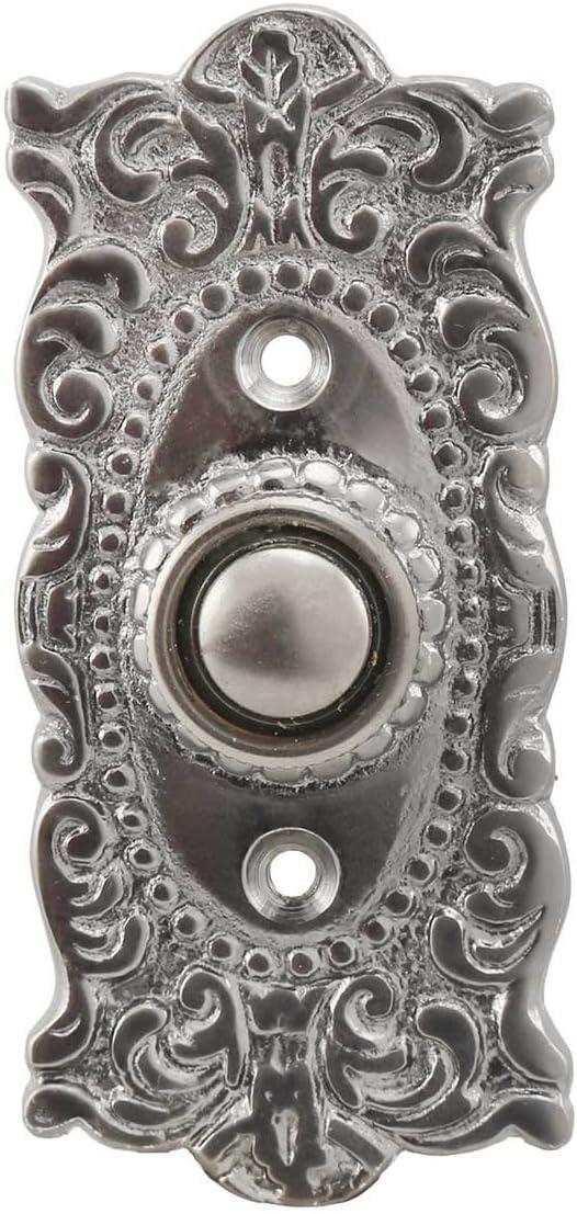 Victorian Decorative Doorbell Button in Antique Brass