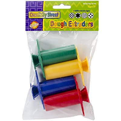 Creativity Street Dough Extruders (4 Pack): Toys & Games