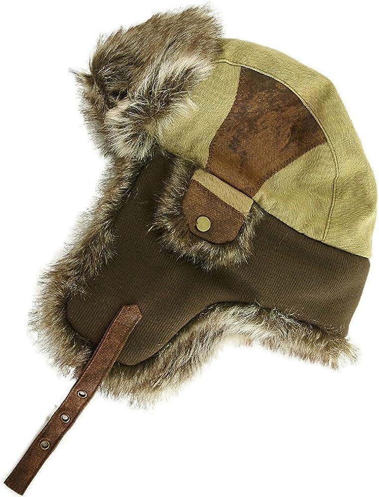 Fancet Jagd f/ür Damen Herren und Kinder // russische Uschanka Trapperm/ütze f/ür Outdoor warme Winterm/ütze mit Kunstfell und Ohrenklappen Skifahren