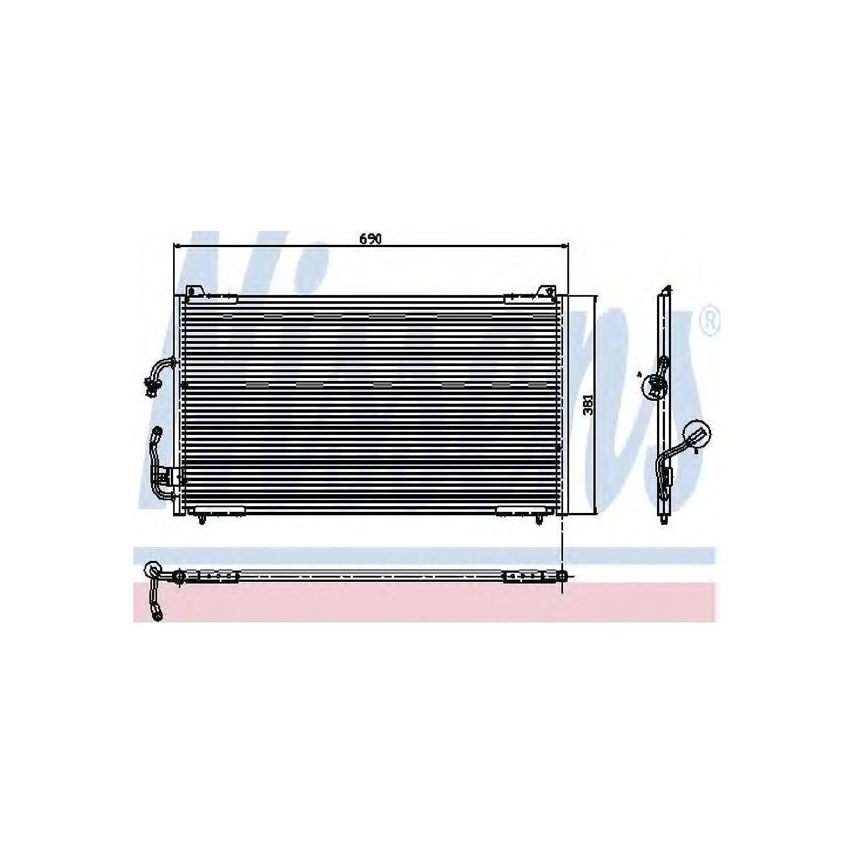 Nissens 94224 Condenser, air conditioning