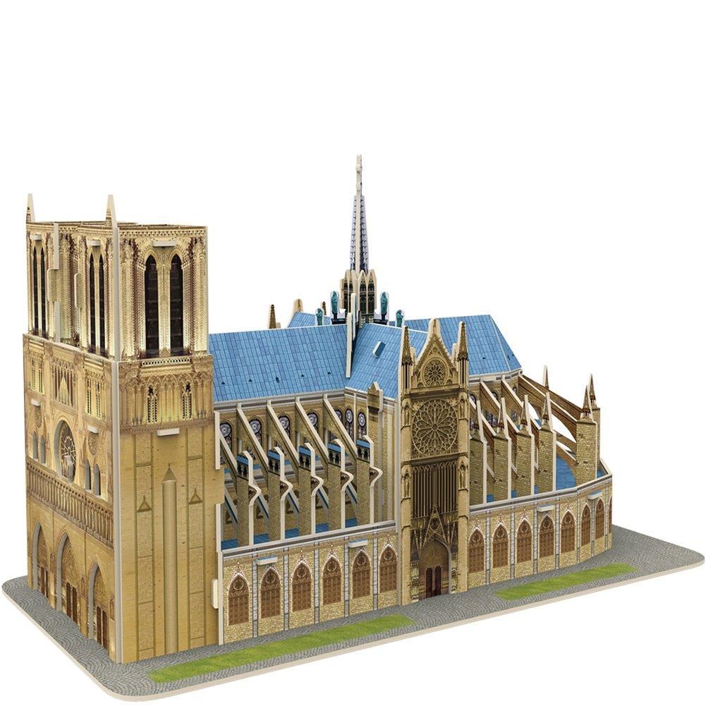 CubicFun Architectural Paris Model Craft Kits&3D Puzzle Toys, Notre Dame de 27 Pieces C242h