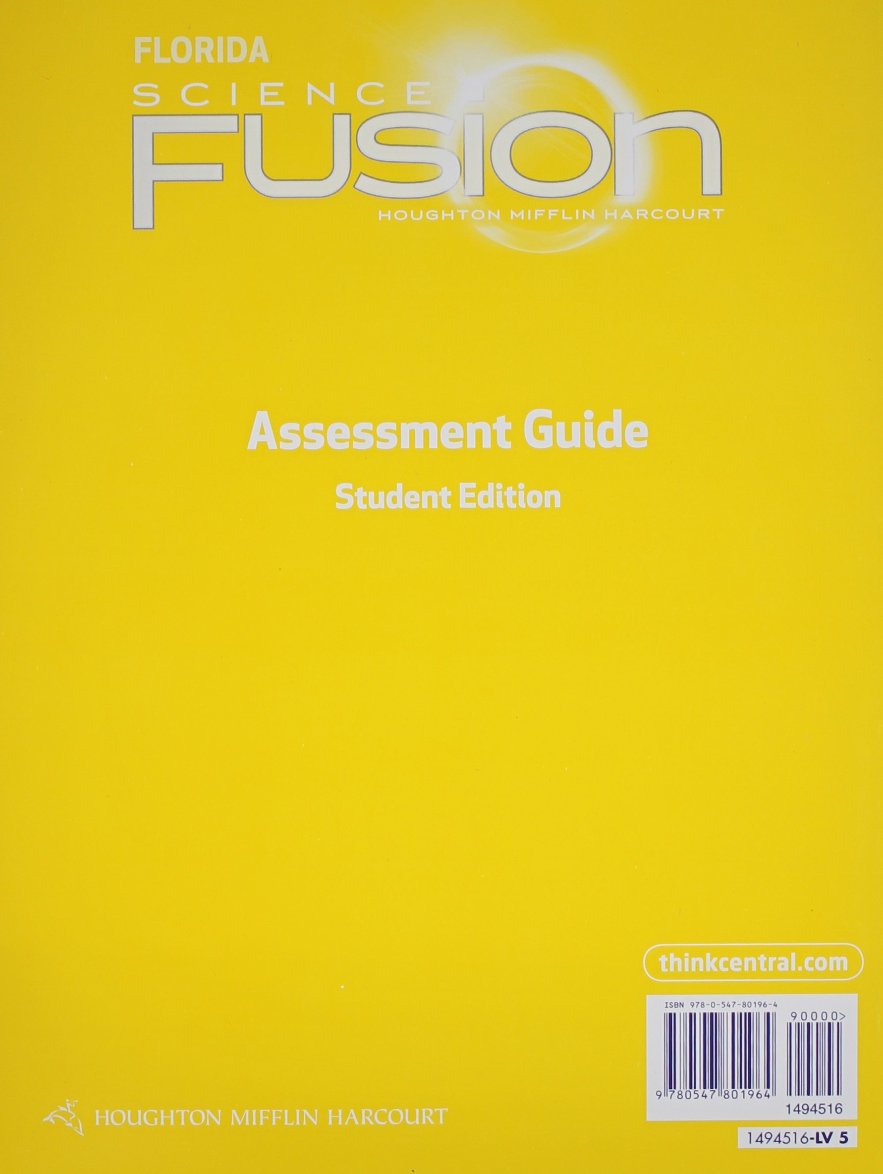 Houghton Mifflin Harcourt Science Fusion Florida: Assessment Books Grade 5:  HOUGHTON MIFFLIN HARCOURT: 9780547801964: Amazon.com: Books