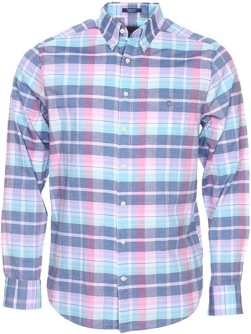 Camisa Gant Cuadros Pastel Azul