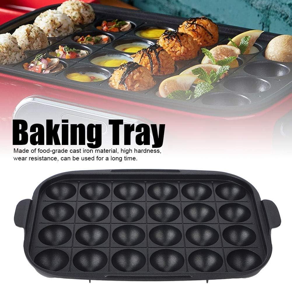Plaque de cuisson multifonction, plaque antiadhésive pour plaque de barbecue, plaque de gril adaptée au barbecue familial(Plateau multifonction) Plateau Takoyaki