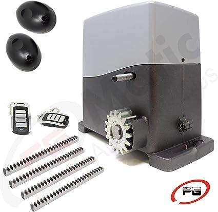 Kit motor puerta corredera, modelo VDS AG FUTURE 1600 Kg, incluye motor, 2 mandos, placa de control, 4 metros de cremallera ACERO, fotocélula y manuales de instalación.: Amazon.es: Bricolaje y herramientas