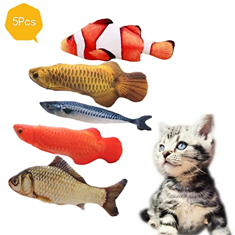 PePePet Artificial pez de Juguete con Catnip para Gatos, Juguete ...
