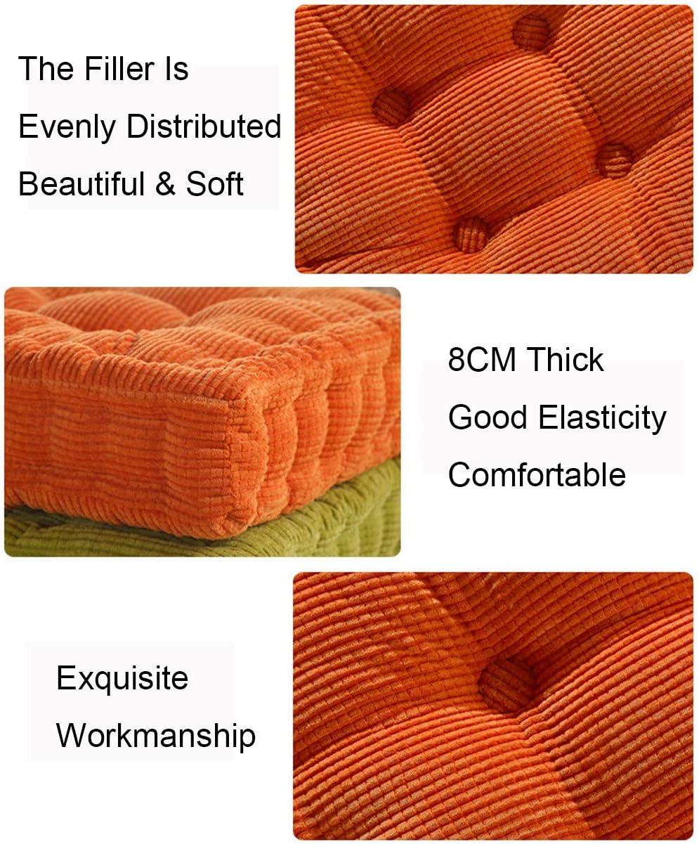 LEILEI Cuscino per Sedia Quadrato Cuscini per sedili Cuscini Imbottiti in Cotone Perlato Cuscino Posteriore Soft Touch Poltrona di Sostegno Cuscini di Rialzo Copertura in Velluto per Giardino Sala