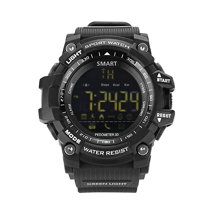ubei Mens Militar reloj inteligente, EX16 Bluetooth 4.0 LED reloj Digital 5 ATM & ip67outdoor
