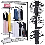 S AFSTAR Safstar Portable Clothes Wardrobe Garment Rack Home Closet Hanger Storage Organizer