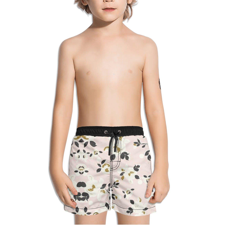 Ouxioaz Boys Swim Trunk Flower Floral Pattern Beach Board Shorts