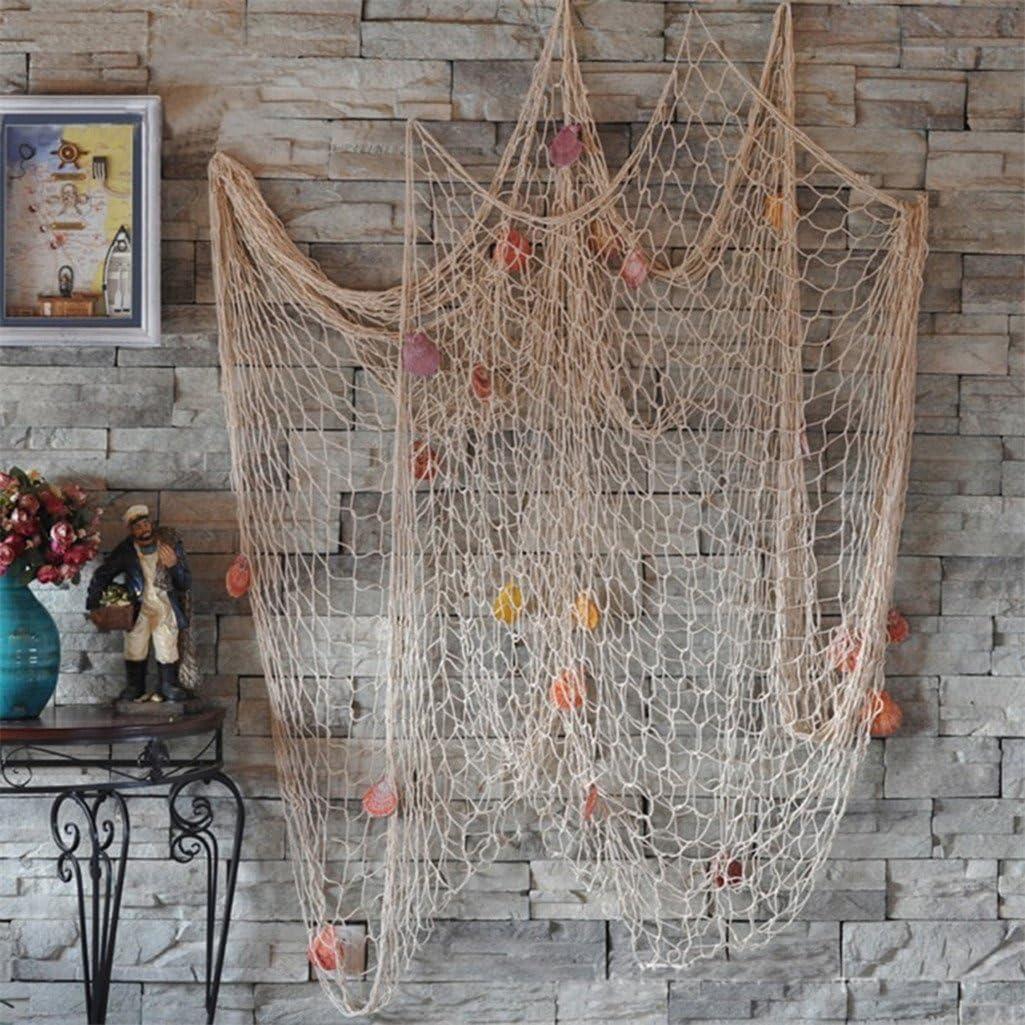 Bodhi2000/Filet de p/êche avec coquillages D/écoration pour la maison le plafond le mur