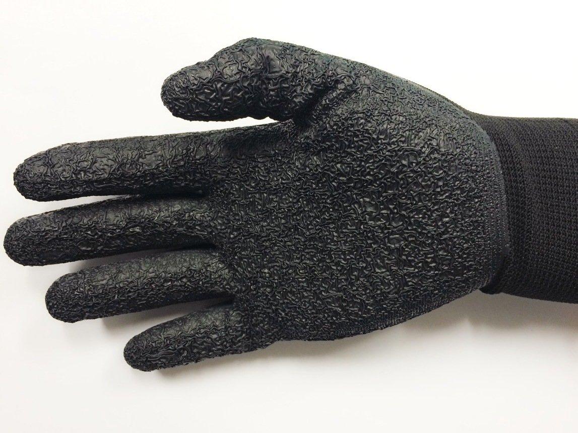 Medium/ 6 Pair Diesel Black Safety Gloves Latex Coated Grip Cut Resistant by Diesel (Image #3)