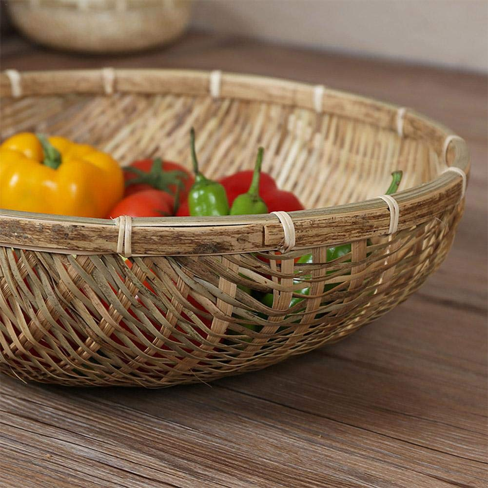 /Frutero Househome Cesta Picnic Hecho en la Mano cestas de bamb/ú Hechas a Mano Naturales Frutas Verduras/