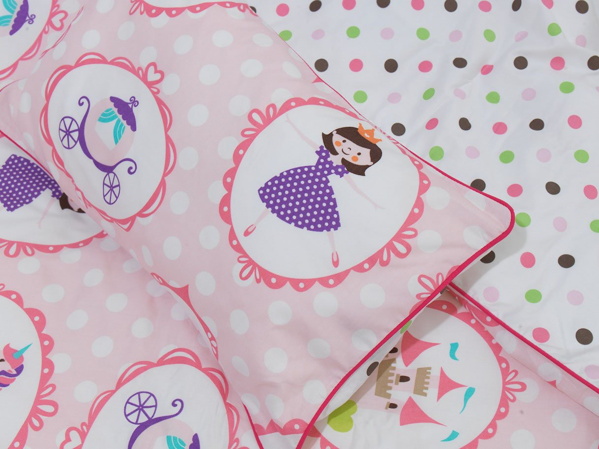 Rose i-baby Oreiller Bebe Enfant Coussin Sommeil Naissance Coton Oreiller Cou Avec Taie Oreiller Lavable Coussin Enfant Berceau pour Filles Gar/çons 0-3 Ans
