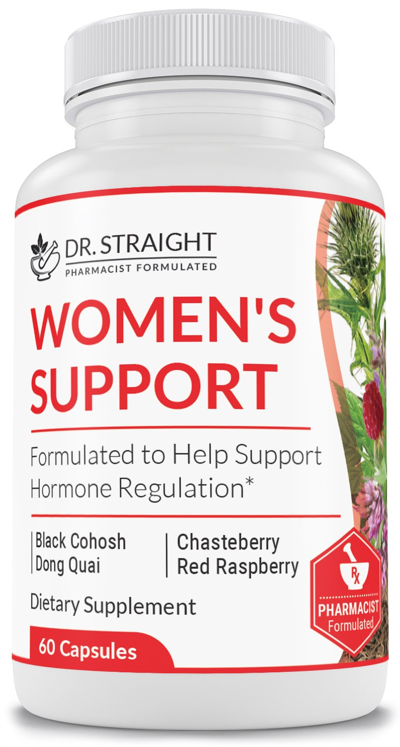Dr. Straight Women's Menopause Support Supplement – Natural Herbal Hormone and Hot Flash Support Non GMO