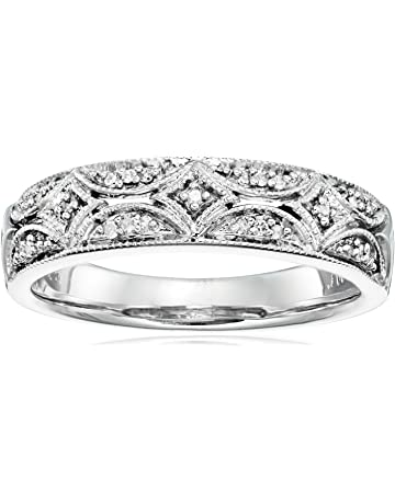 b64dabfd3 Sterling Silver Diamond Band Ring (1/20 cttw, I-J Color, I2-