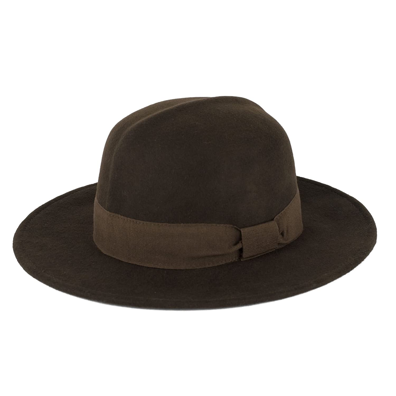 ZAKIRA Wool Colonial Fedora Hat Handmade in Italy