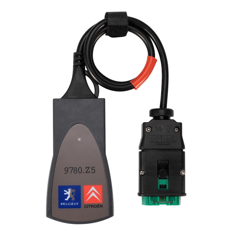 EOBD//OBD 2 Outils Moteur PP2000 Lexia 3 V48 V25 Diagbox 7.83 Citroen Berline compatible Outils Diagnostics pour syst/ème de moteur OBD-II PP2000 OBD2 Scanner