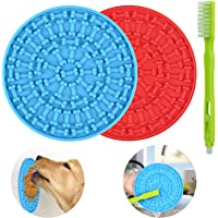 Lick Mat for Dogs 2 Packs - OAPRIRE Dog Lick Mat with Super Suction, Reduce Daily Anxiety, Slow Feeder Lick Mat Suctions…