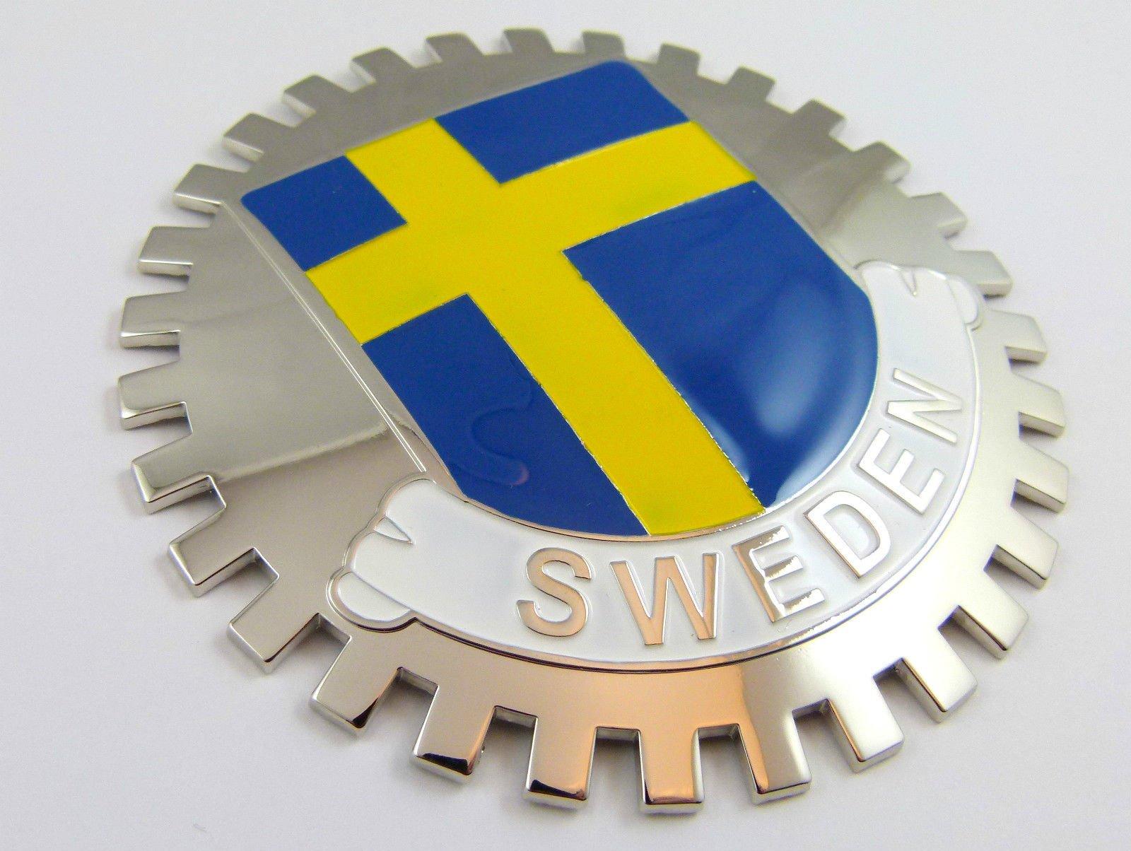 Aplique Parrilla Parrilla Insignia Suecia Bandera sueca