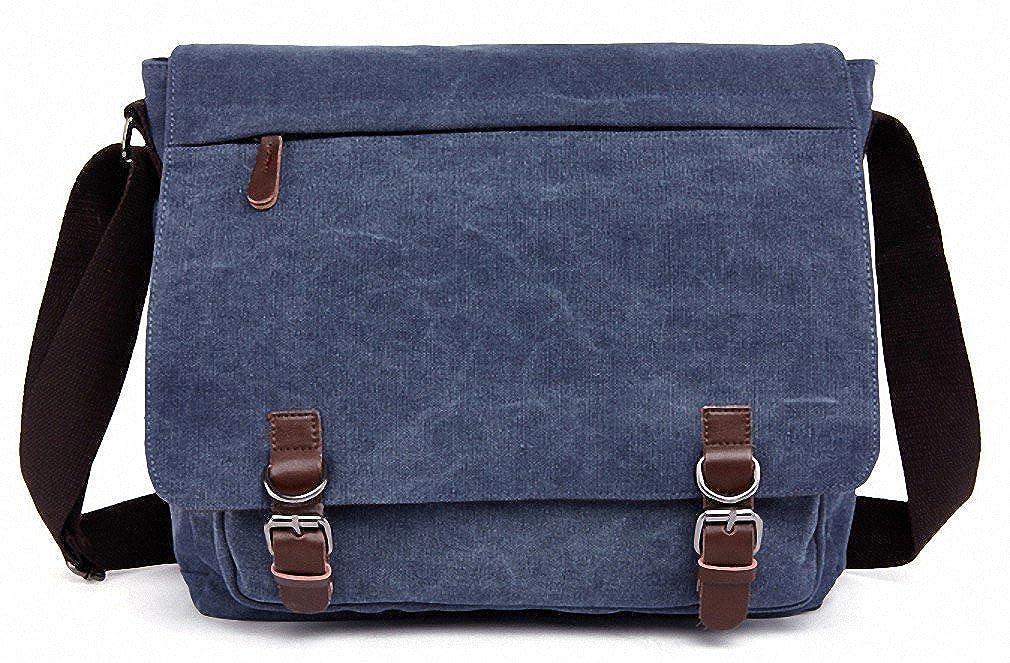 Kenox Vintage Canvas maletín portátil Messenger Bag bolso de escuela 16 pulgadas: Amazon.es: Ropa y accesorios
