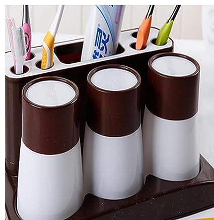 Plástico Dientes Taza Soporte Para Cepillo De Lavar traje Creative Fashion multifuncional Wash Gargle Cup vaso