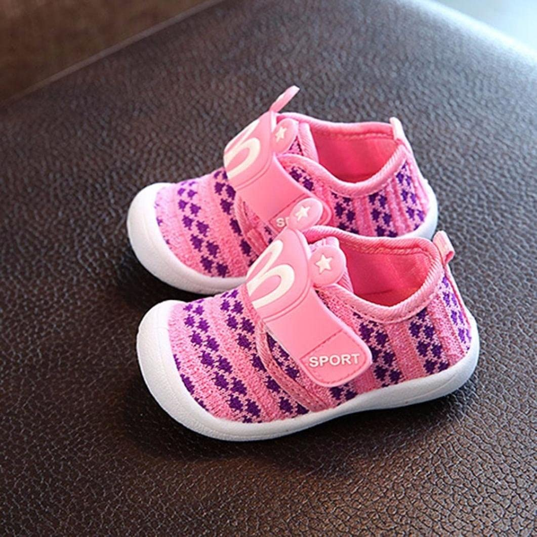 Efaster(TM Baby Shoes Sneaker Anti-slip Soft Sole Toddler Colorful Canvas Shoes