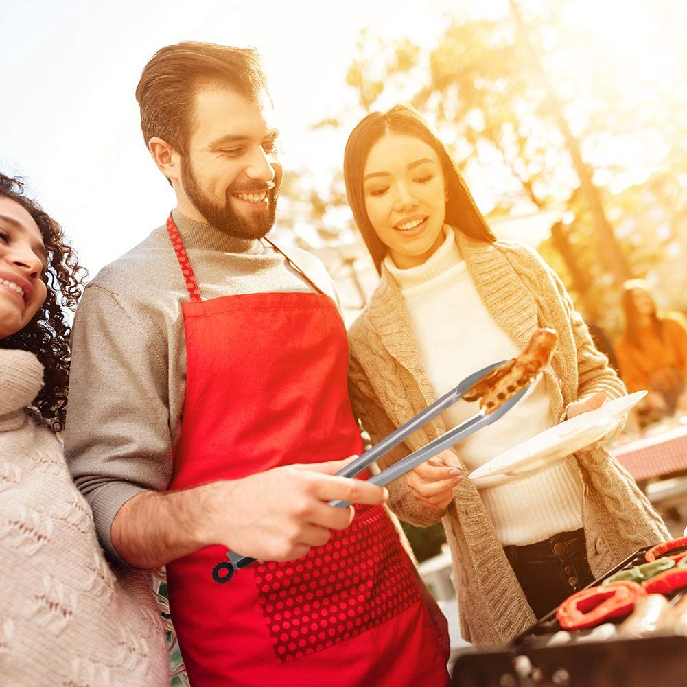 Grillzange Grill Grillen Buffet Mehrzweckzange Zum Kochen Zange Lebensmittelsichere Silikon Kochzange SUSSURRO 2 St/ücke K/üchenzangen Grillzange Edelstahl Servieren Salat