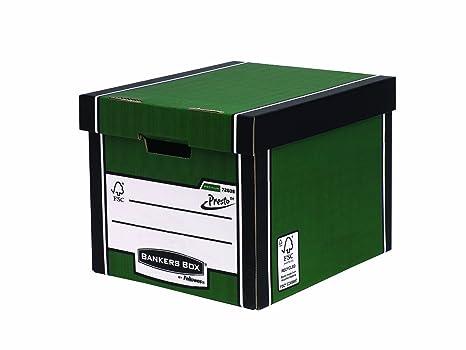 Fellowes R-Kive Premium Presto - Caja de archivo, 10 unidades, color verde
