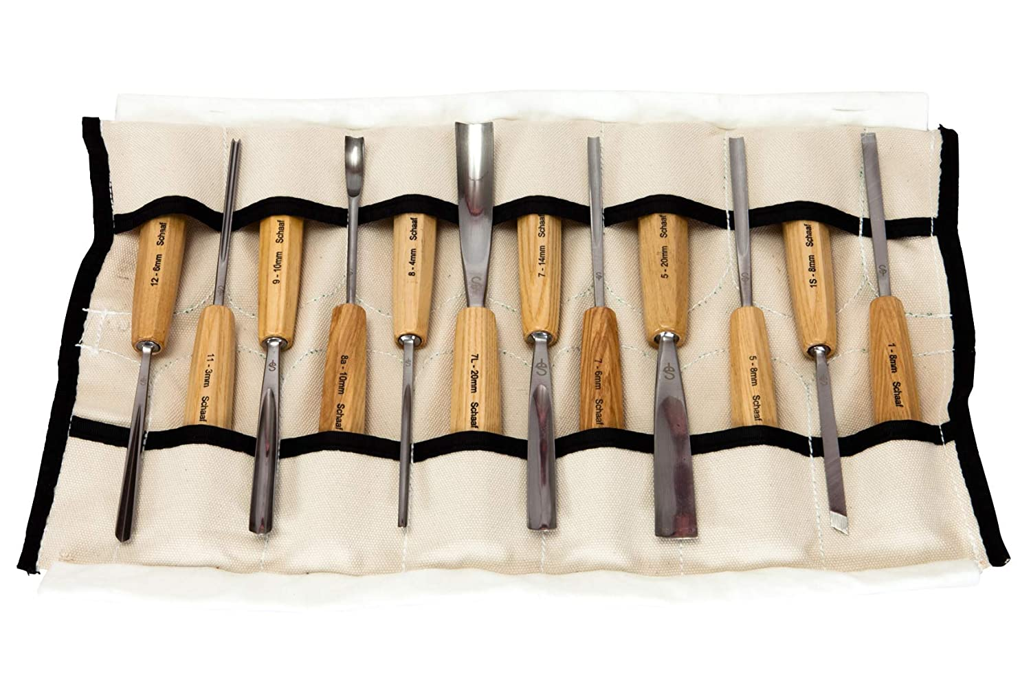 SCHAAF Full Size Wood Carving Tools, Set of 12 Warmhoming