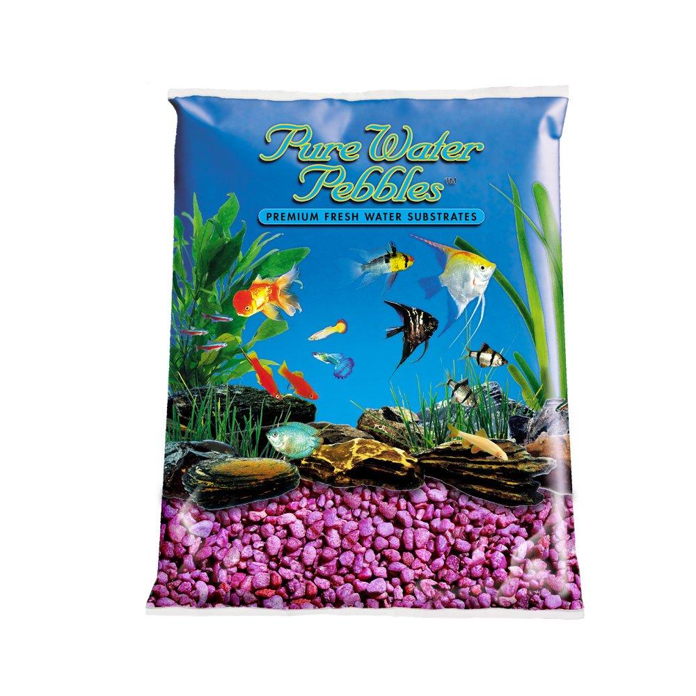 Pure Water Pebbles Aquarium Gravel, 25-Pound, Neon Purple by Pure Water Pebbles