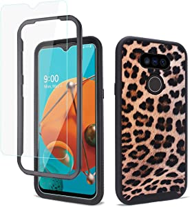 GOLINK Full Body Rugged Shockproof Protective Case with HD Screen Protector for LG Aristo 5 Plus Case,LG K31/LG Fortune 3/LG Phoenix 5-Leopard