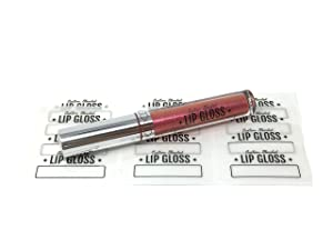 Clear Lip Gloss Tube Labels - Pack of 36 Stickers