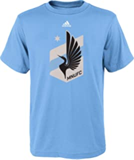 adidas Youth Minnesota United FC Team Primary Logo T-Shirt - Light Blue