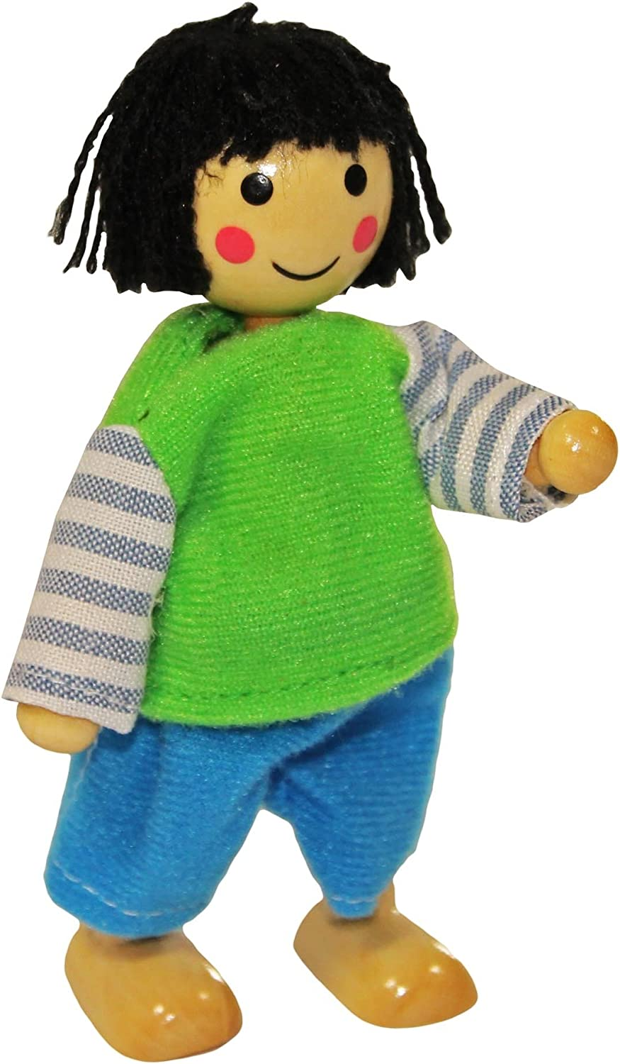 Set Of 4 Dolls Including Clothes For Changing Wooden Flexible Puppets Freda Dolls Family