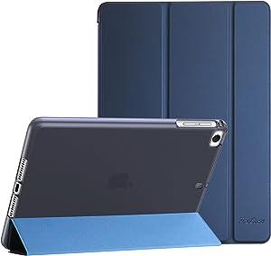 ProCase iPad Mini Case for iPad Mini 5 2019 / Mini 4, Mini 1 2 3, Slim Soft TPU Translucent Back Cover Trifold Stand Folio Smart Case for iPad Mini 5th Generation 2019, iPad Mini 4 3 2 1 -Navy