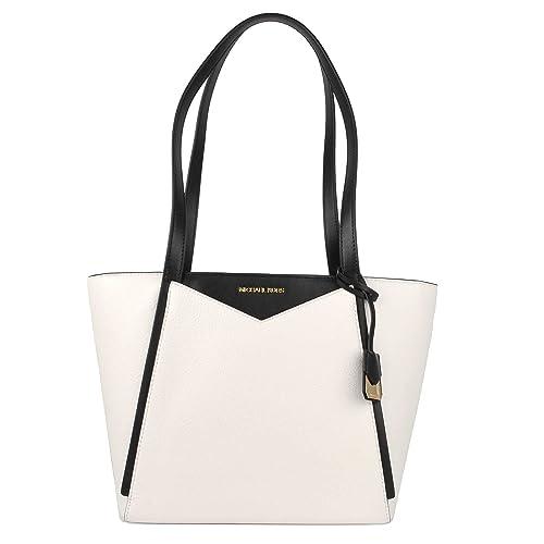 Michael Kors Whitney Small Top Zip Tote (Black) Tote Handbags D5DB7c1hq4