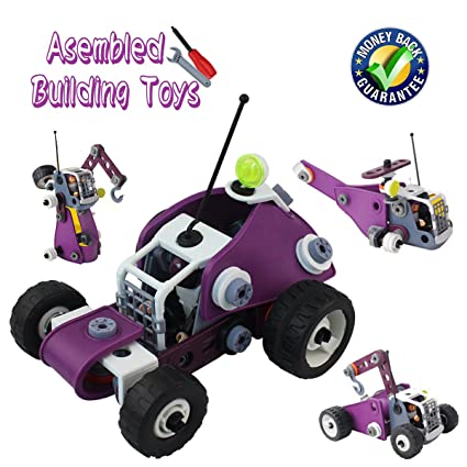 Amazon Com Kids Toys Stem Learning Fonxian 4 In 1 Assembled Puzzle
