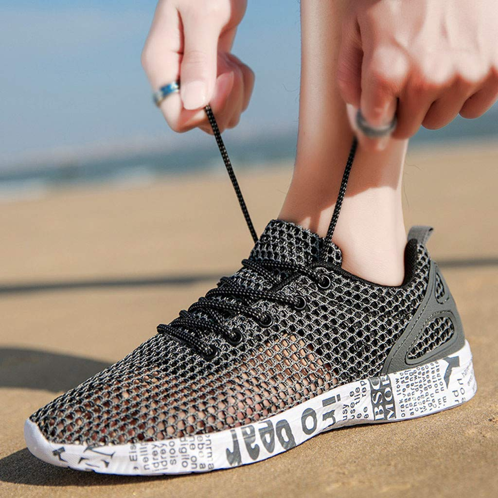2019 Men Hollow Casual Sports Shoes Run Breathable Shoes Outdoor Mesh Sneakers