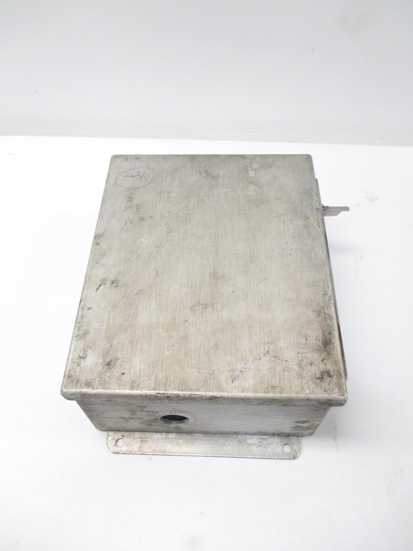 HOFFMAN A1008CHAL ALUMINUM 10X8X4 IN WALL-MOUNT ENCLOSURE D496750