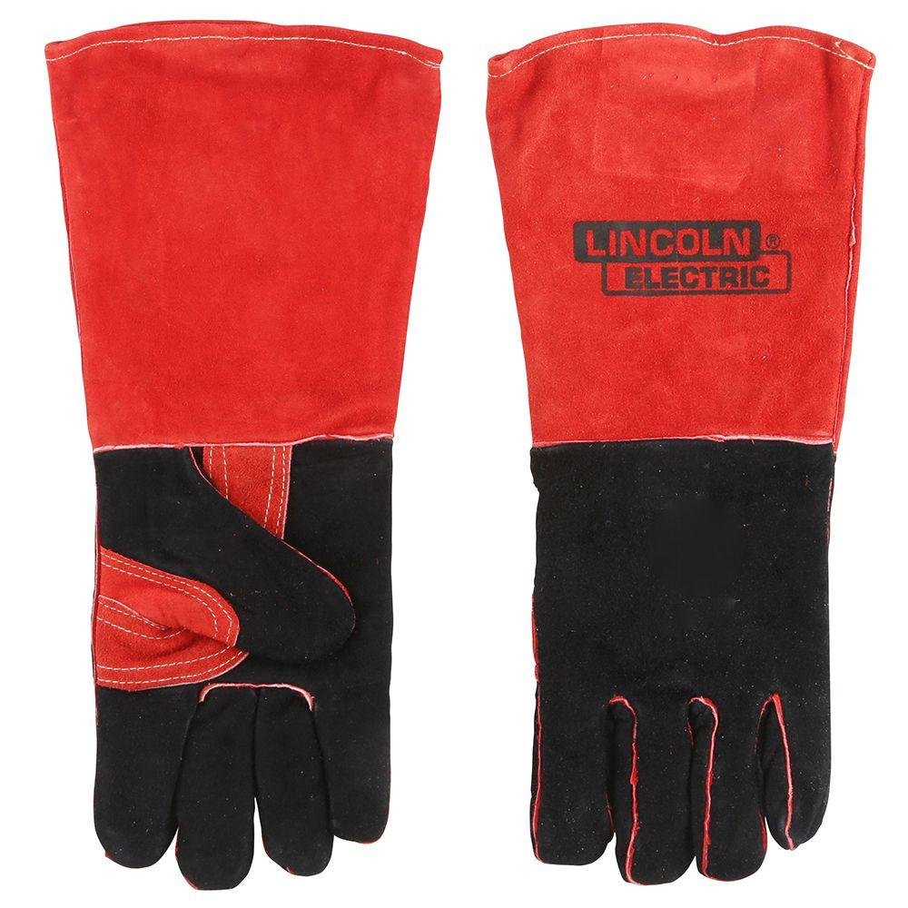 Lincoln Electric KH643 Leather Welding Gloves, One Size, Red