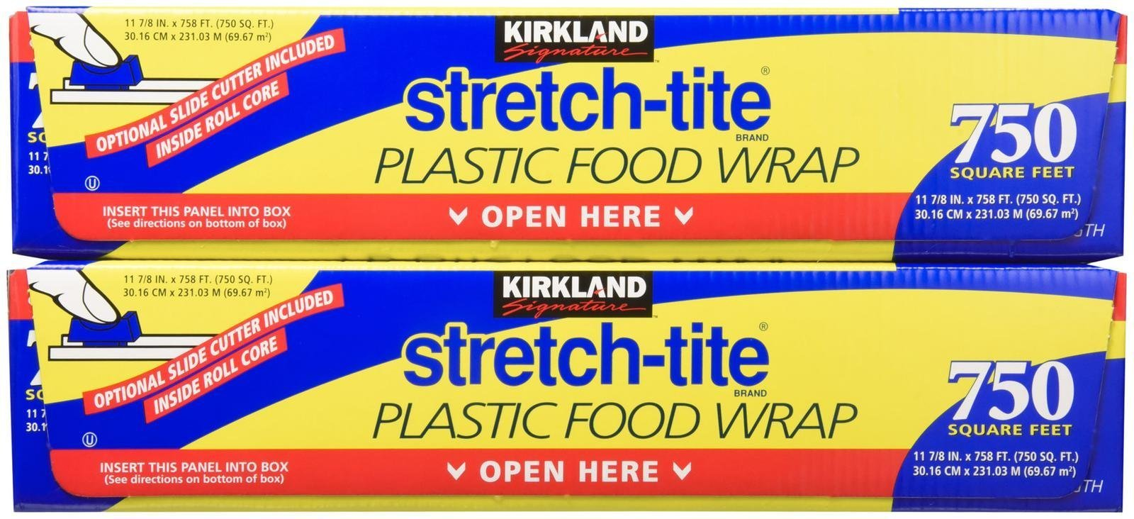 Kirkland Signature Stretch-Tite Plastic Wrap - 11 7/8 x750 feet - 2 pk by Kirkland Signature