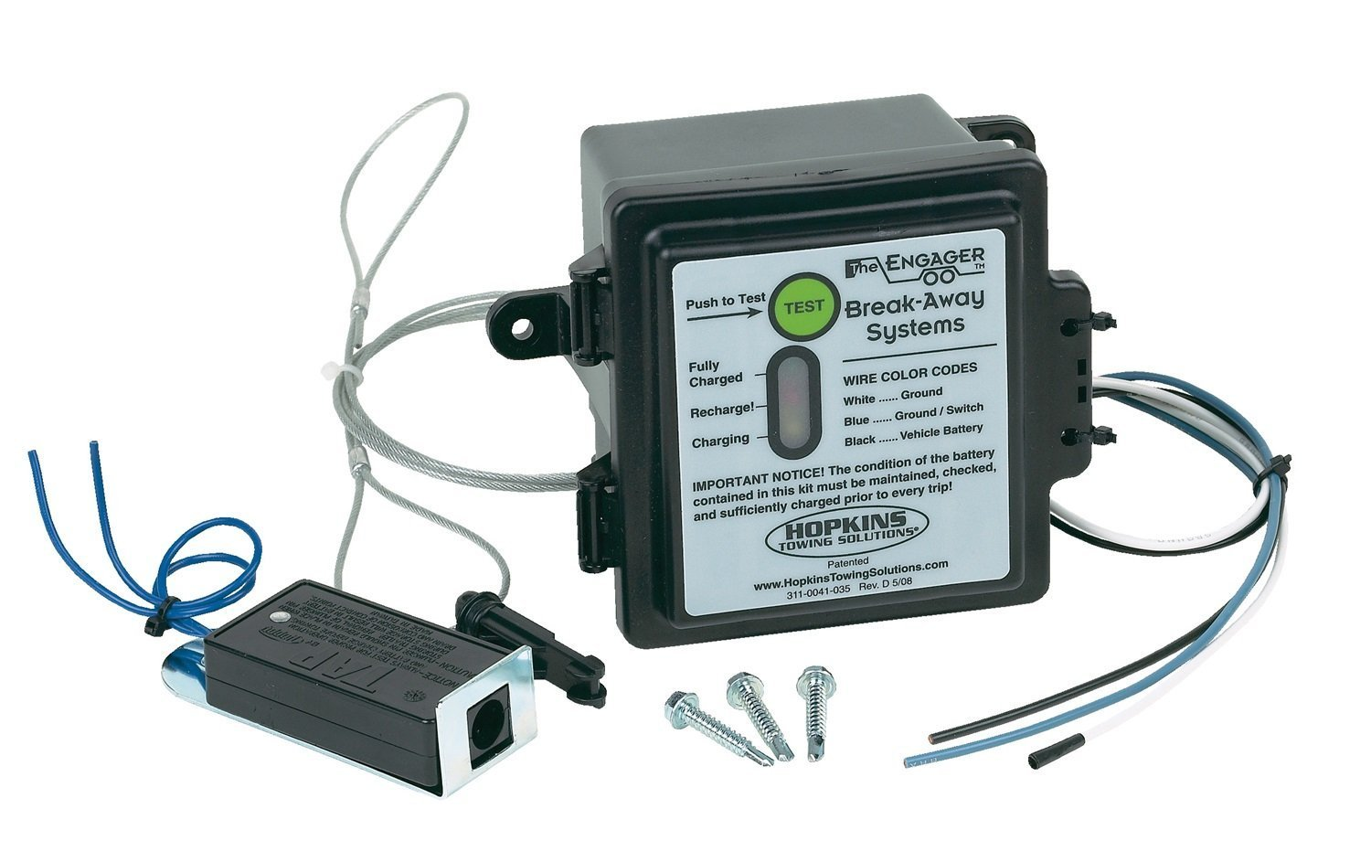Hopkins The Engager 20099 Engager Break Away Systerm W/Battery Meter ...