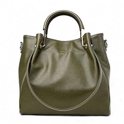 5a01b6ee48 Amazon.com  B dressy Women Messenger Bags Designer Ladies Hand Bags Genuine Leather  Women Crossbody Bag Sac A Main Femme Casual Tote Bag Army GreenOne Sie  ...