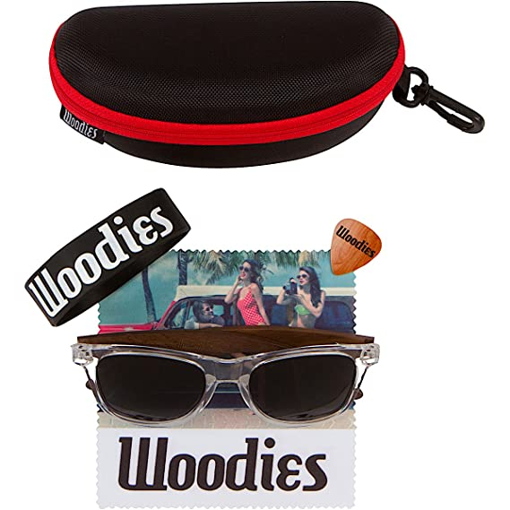 Amazon.com: Woodies Walnut Wood Polarized Sunglasses with ...