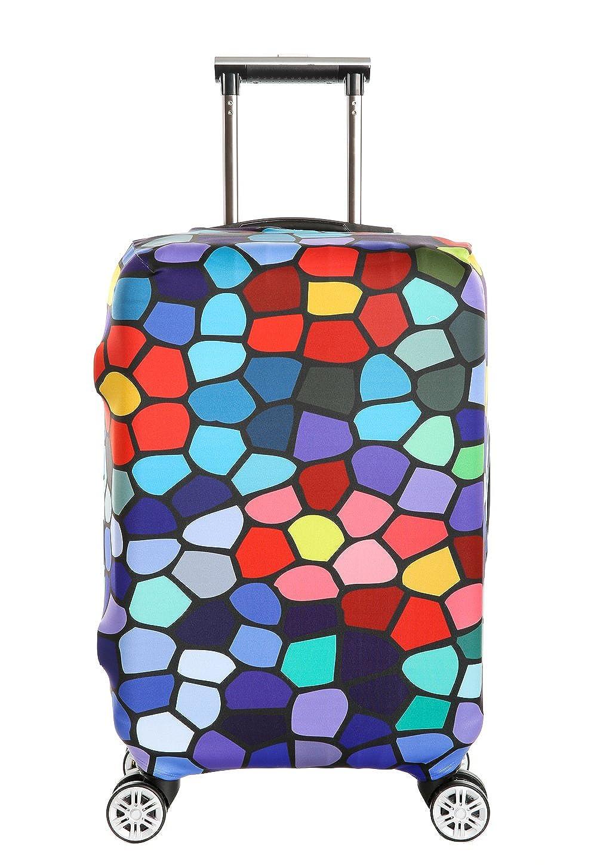 荷物用プロテクターカバースパンデックス伸縮性スーツケースカバーラゲッジカバープロテクターSINOKALスーツケース(カバーのみ) B01DPY48NW Tartan Design XL(Fit 30-32 inch suitcase)