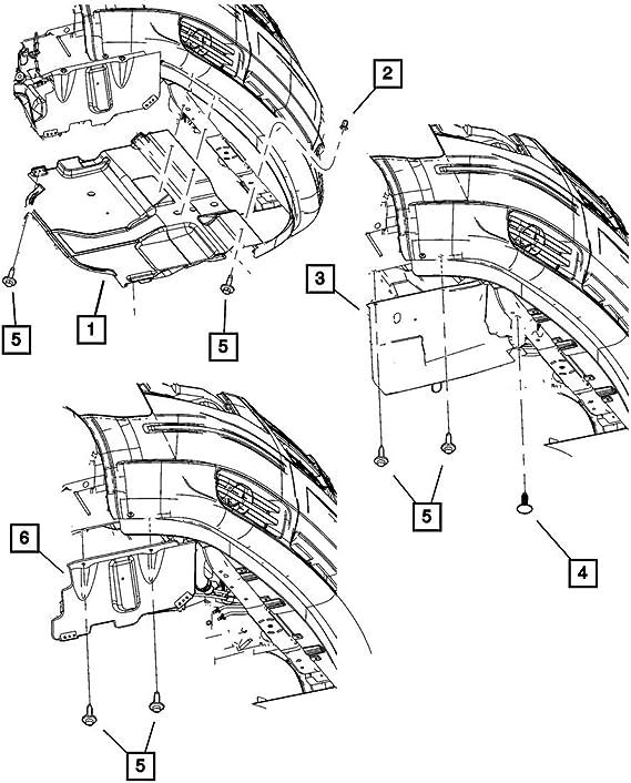 Dodge Nitro Shield Attaching Retaining Clip New OEM