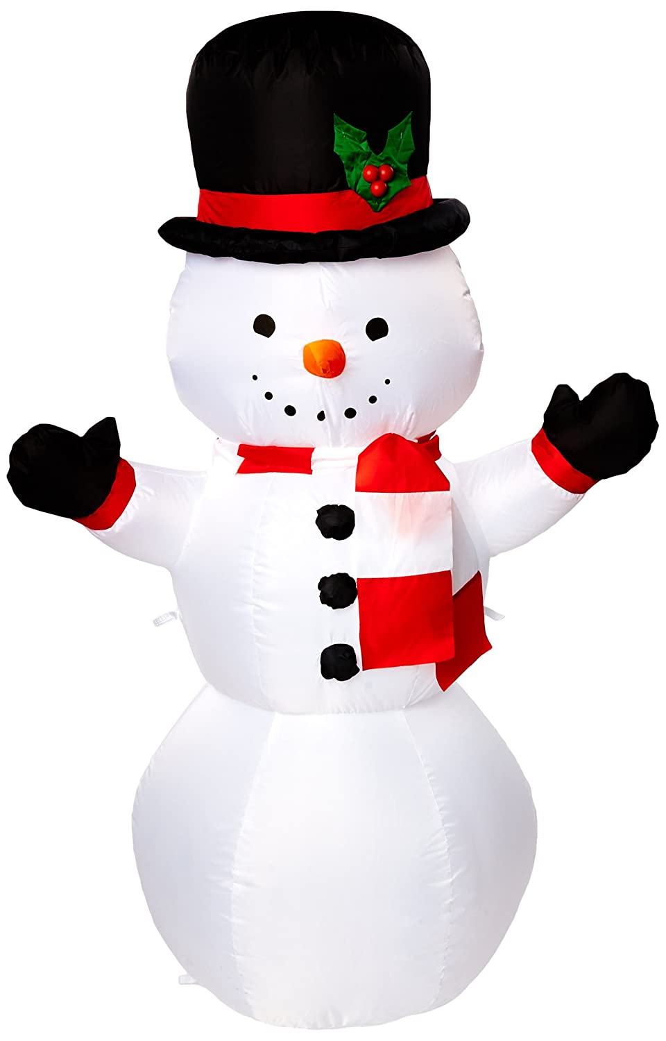 Gemmy Airblown Inflatable Snowman, 4' - Holiday Decoration